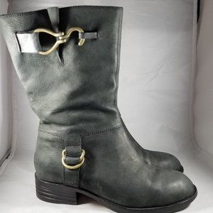 Cole Haan Leather Gray Boots with Nike Air soles